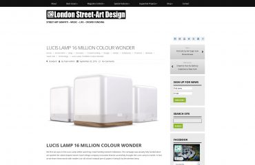 lucis wireless lamp featured in london street art magazine